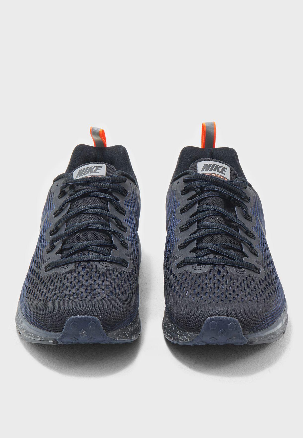 22ab17311d6 Shop Nike multicolor Air Zoom Pegasus 34 Shield 907327-001 for Men ...