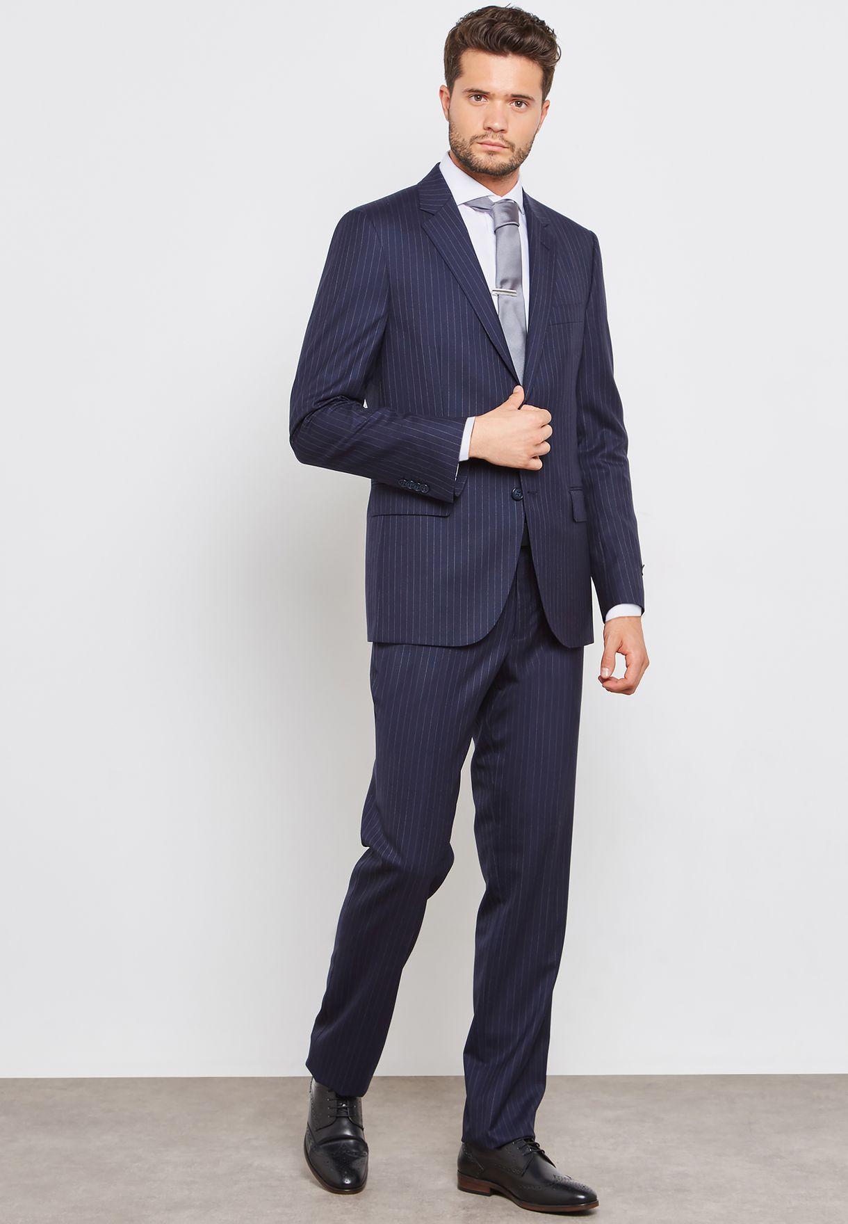 Striped Slim Fit Suit