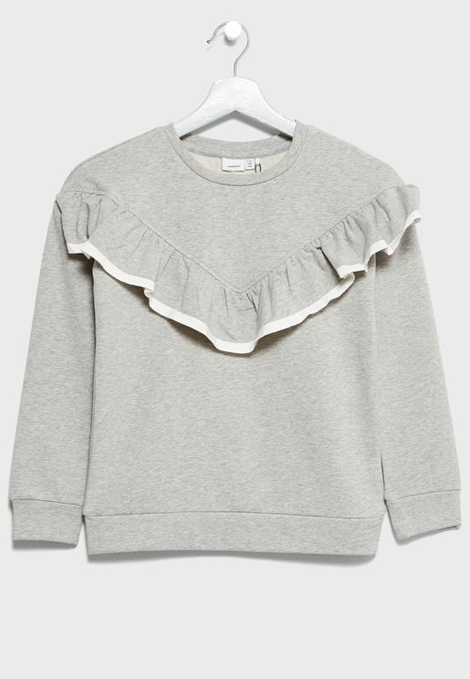 Little Frill Detail Sweatshirt