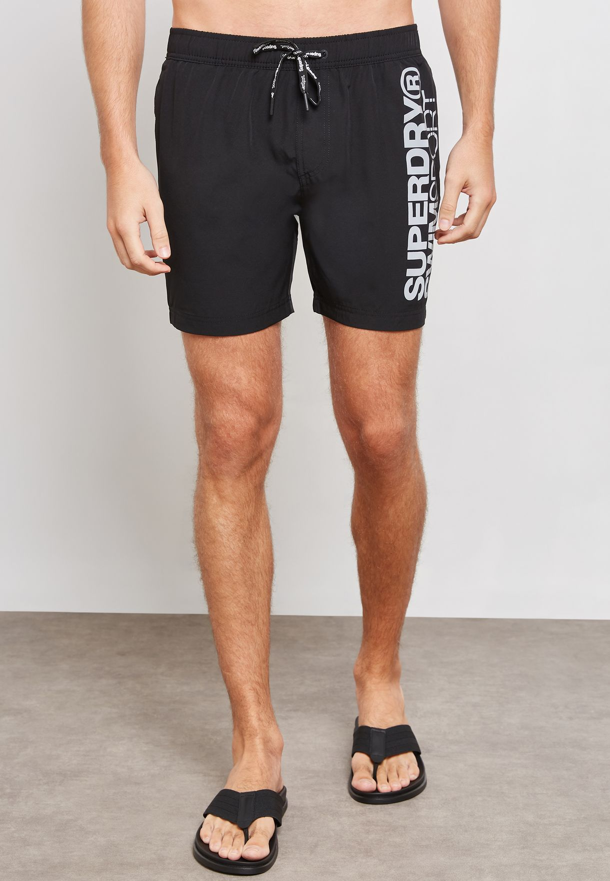 a98ace22c0 Shop Superdry black Superdry Sport Volley Swim Shorts MS3000HR_02A ...