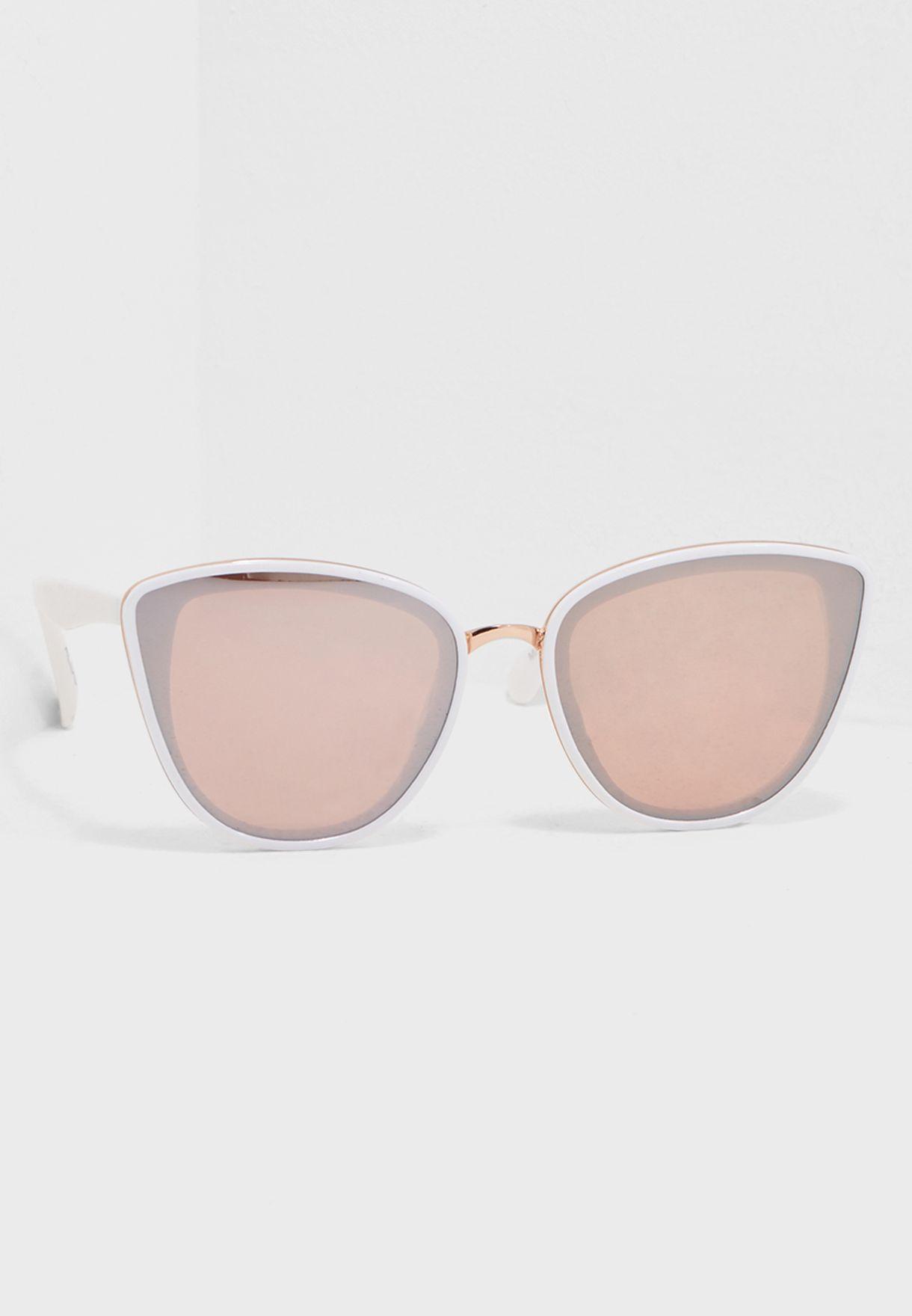 Aldo white Mcguinnes Cat eye Sunglasses