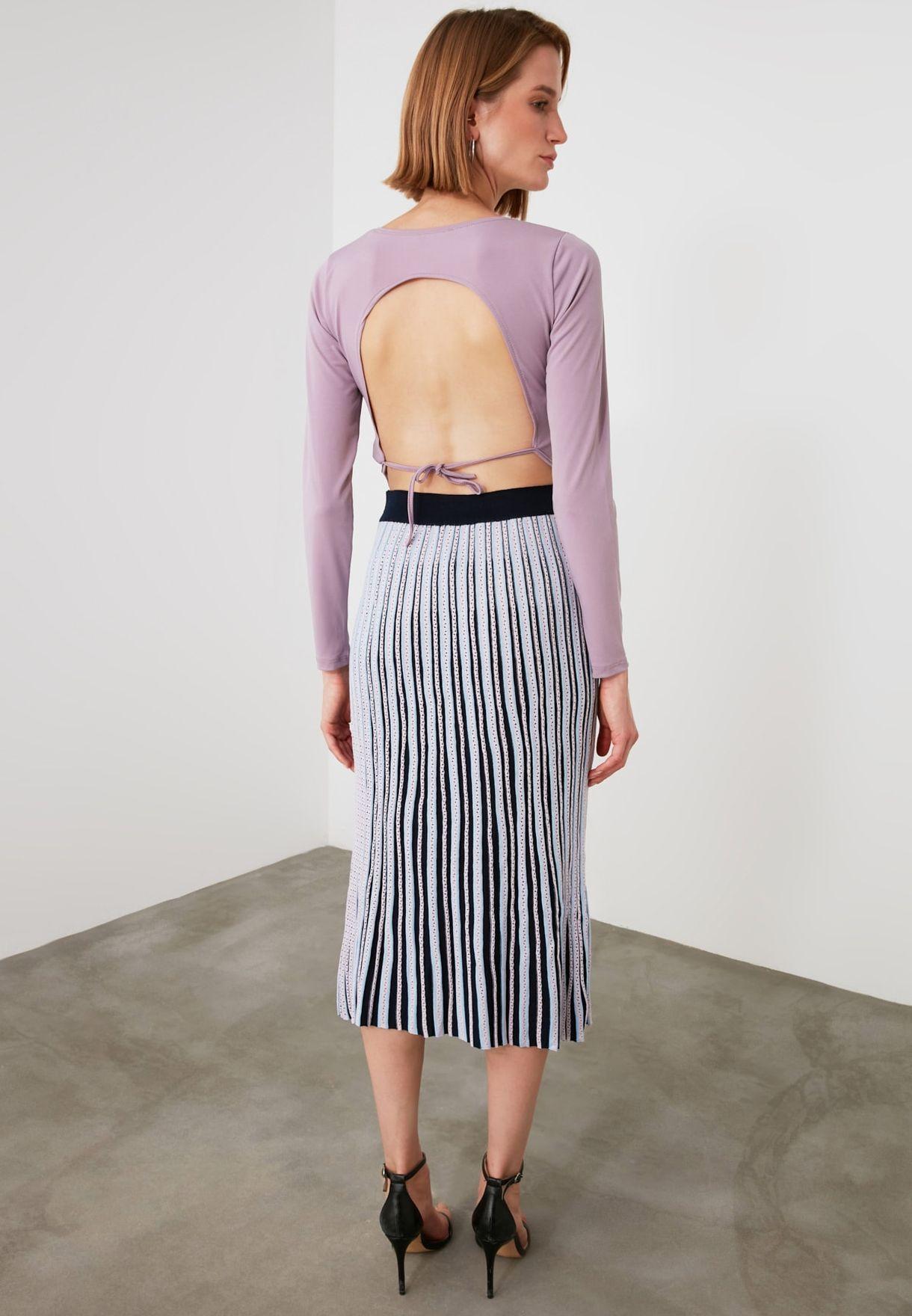 Openwork Knitted Skirt