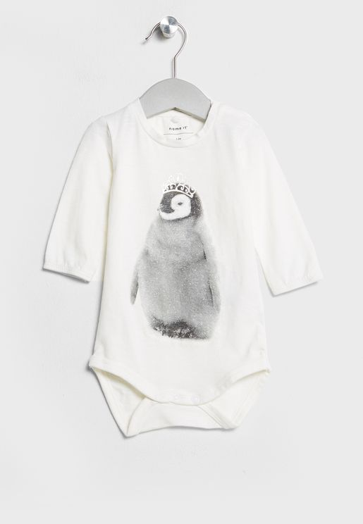 Christmas Infant Penguin Bodysuit