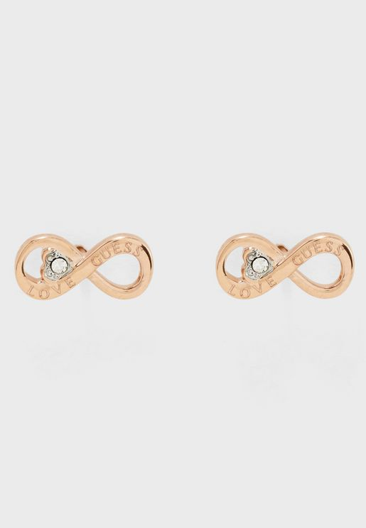 Infinity And Heart Studs
