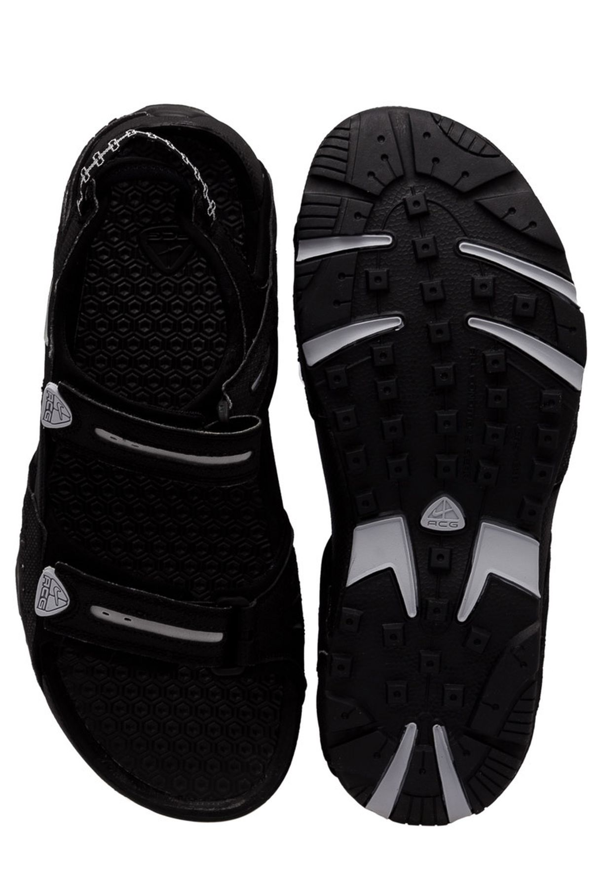 7fa5b11dc2ce Shop Nike black Santiam 4 Sandal 312839-002 for Men in Bahrain ...