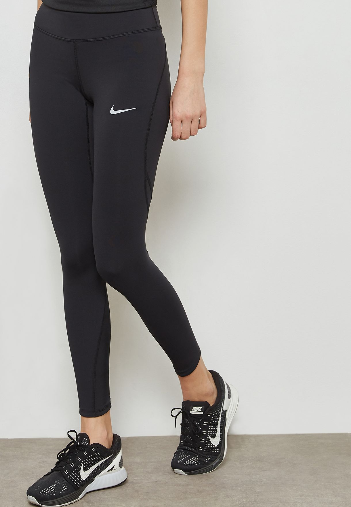 65dee61172b69 Shop Nike black Power Epic Lux Mesh Tights 890305-010 for Women in ...