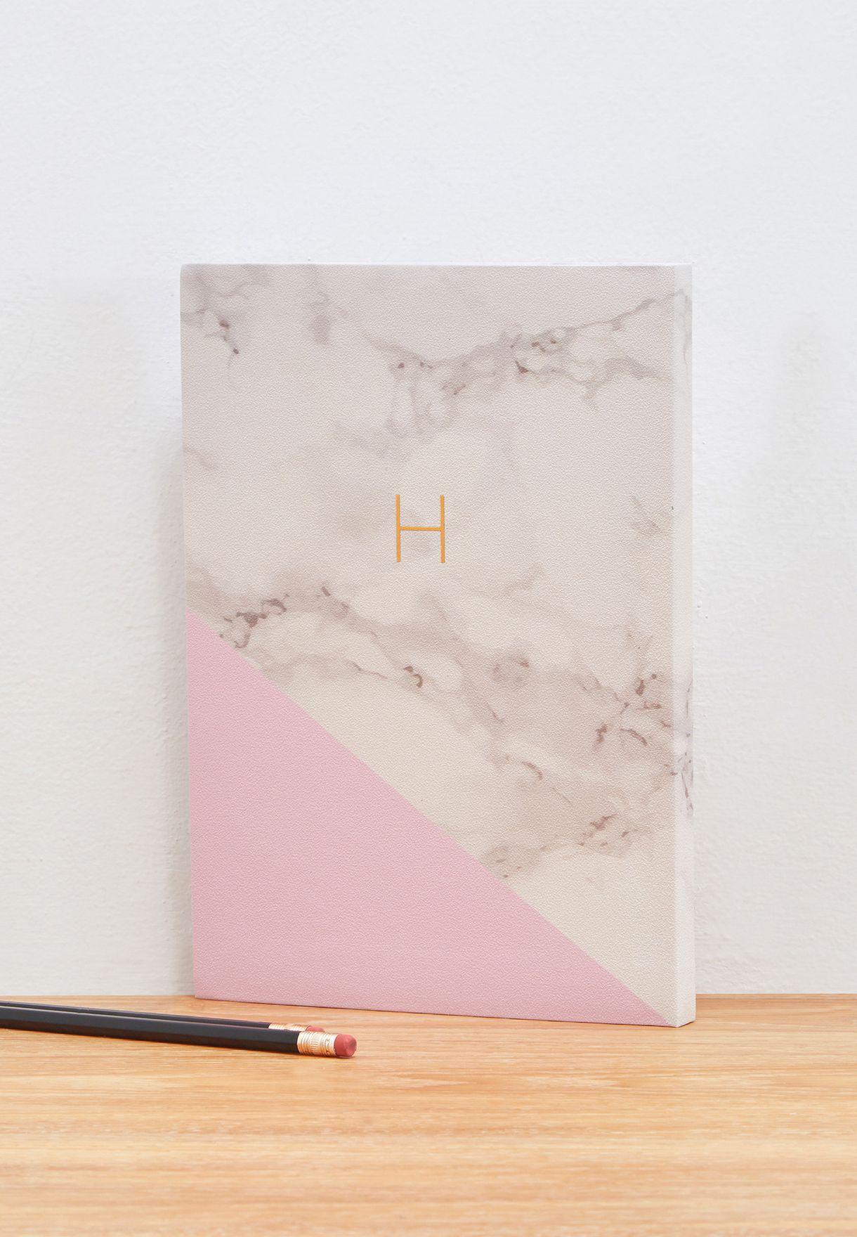 Premium Monogram Notebook H - B5 17.5x25cm
