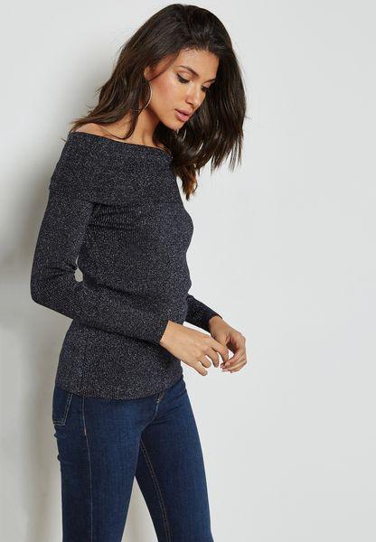 Bardot Ribbed Sweater