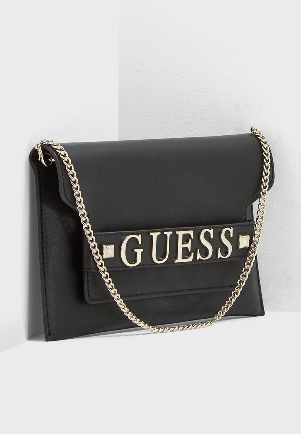 1ebfccb912 Shop Guess black Felix Clutch Crossbody VG687673BLA for Women in Qatar -  GU094AC13SJM