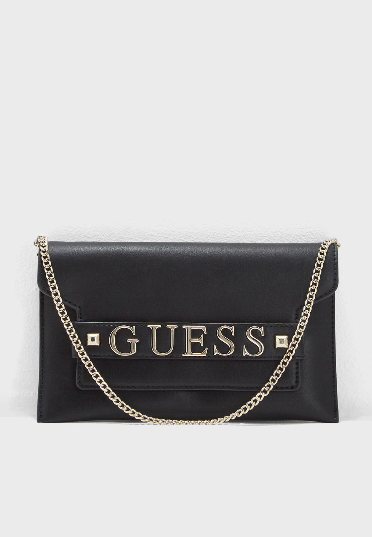 af7623f775 Shop Guess black Felix Clutch Crossbody VG687673BLA for Women in UAE ...