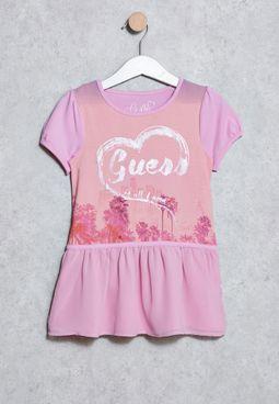 Kids Heart Logo Dress