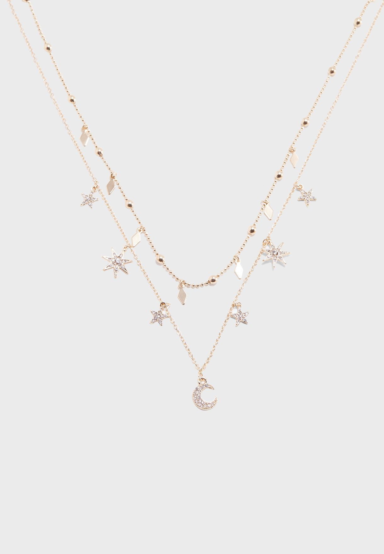 Moon & Stars Charm Necklace