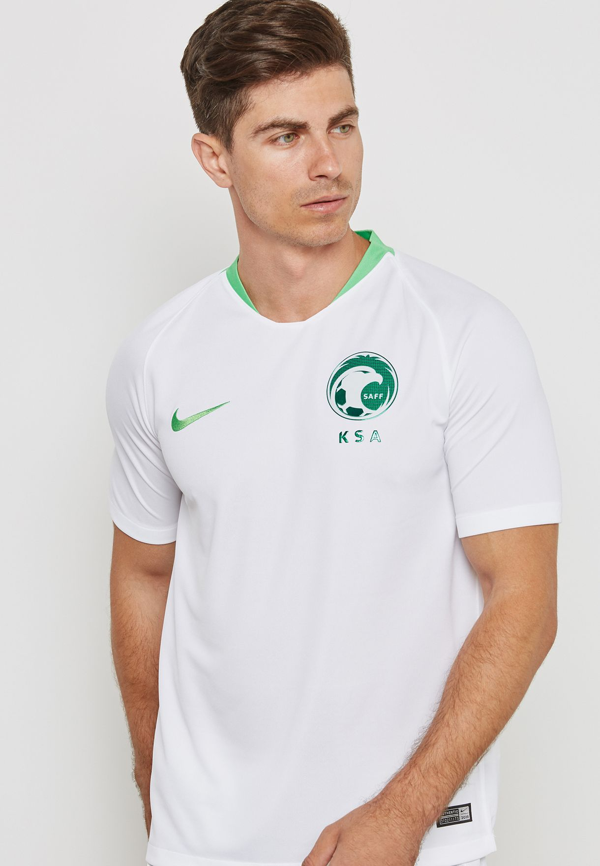 bf02873f Shop Nike white Saudi Stadium Home Jersey 893896-100 for Men in UAE ...