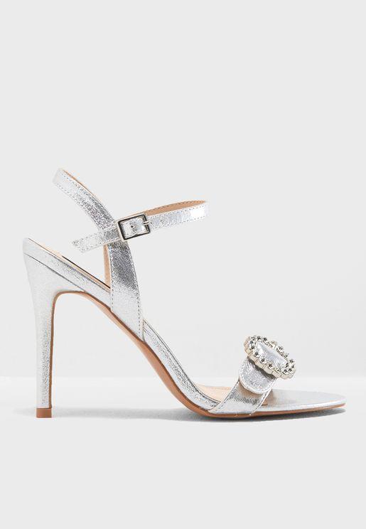 Buckle Heel Sandal