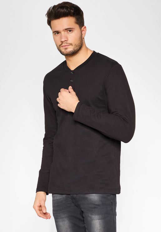 Henley Neck T-Shirt