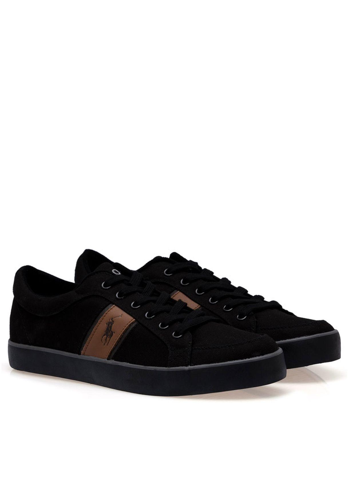 Shop Polo Ralph Lauren black Bolingbrook Ii Sneakers ... 410c7f5597