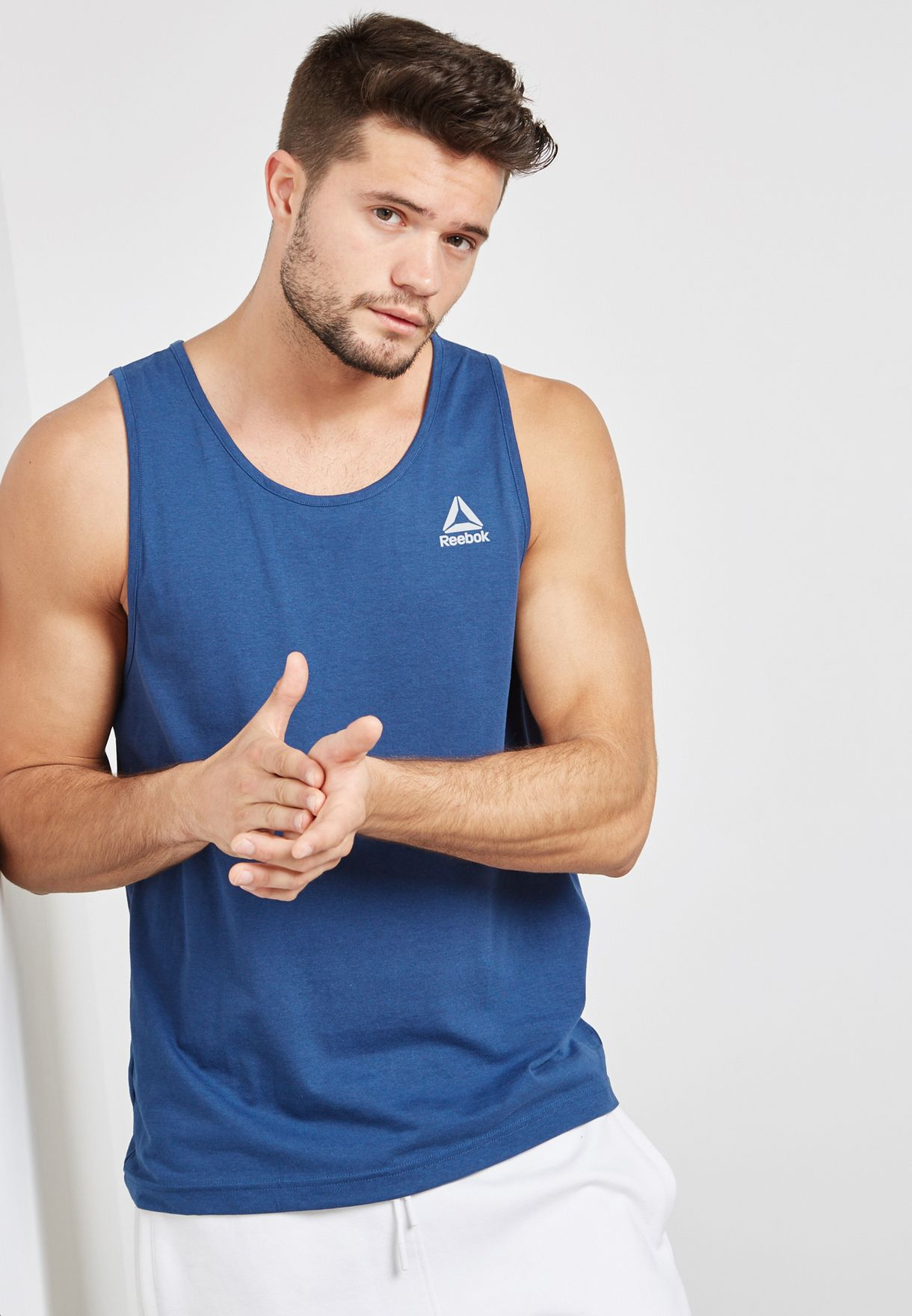 Shop Reebok navy Elements Classic Vest CD5508 for Men in UAE ... a063f8b85