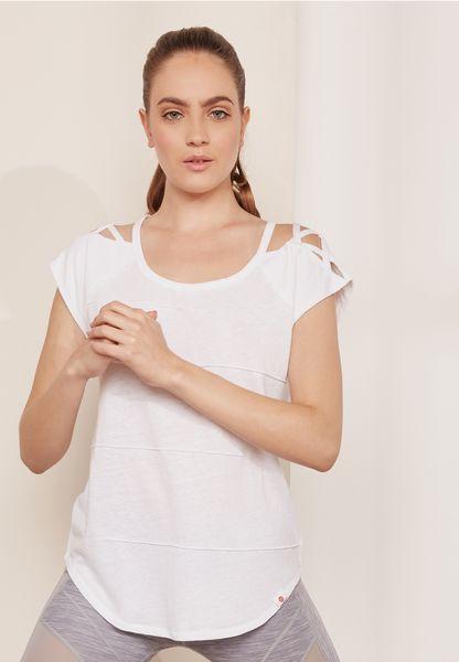 Pacific Pintuck Criss Cross T-Shirt