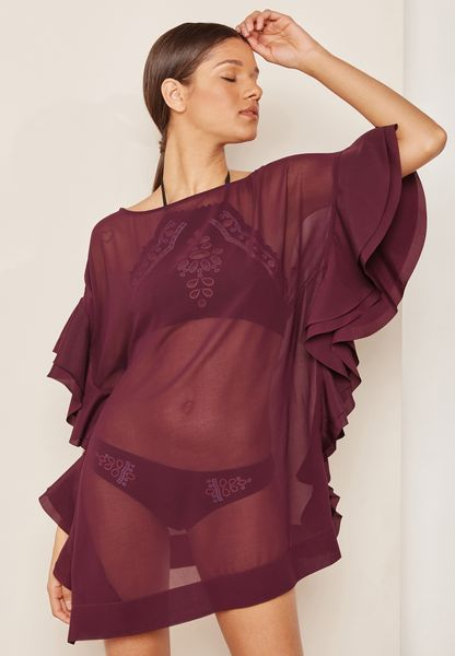 Ruffle Cover Up