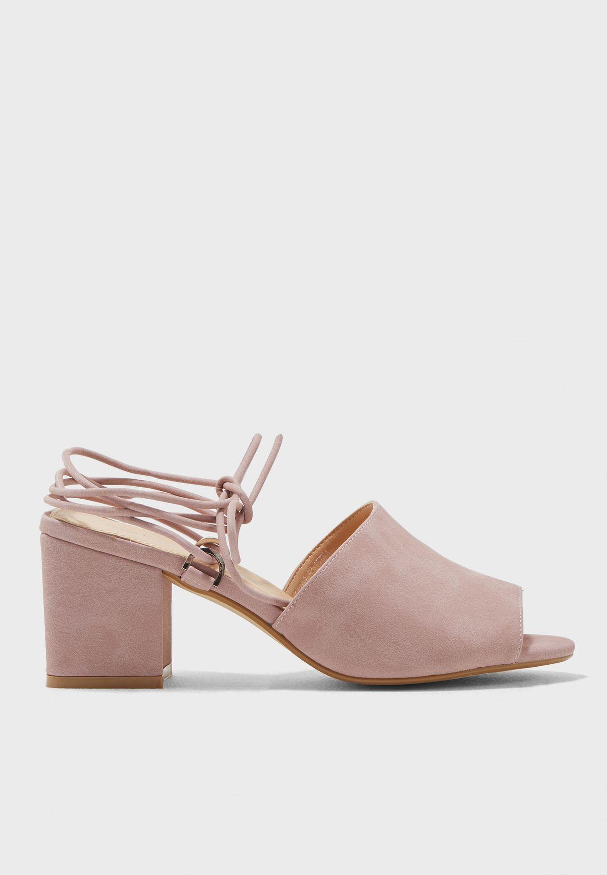 c3e5f81d0a47 Shop Public Desire pink Paddington Low-Heel Sandals PADDINGTON for ...