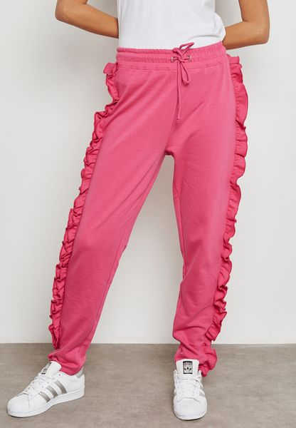 Tie Waist Ruffle Sweatpants