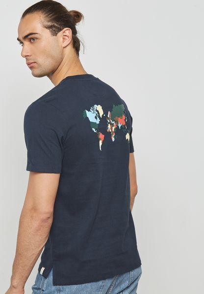 Earth Map Printed T-Shirt