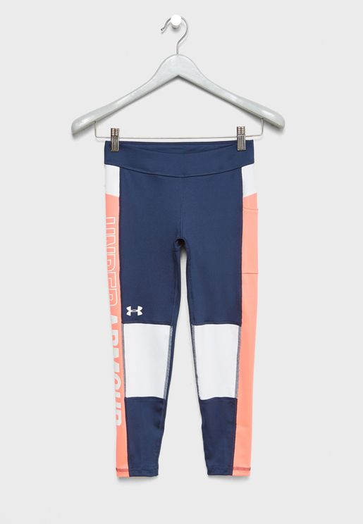 Youth Colour Block Cropped Leggings