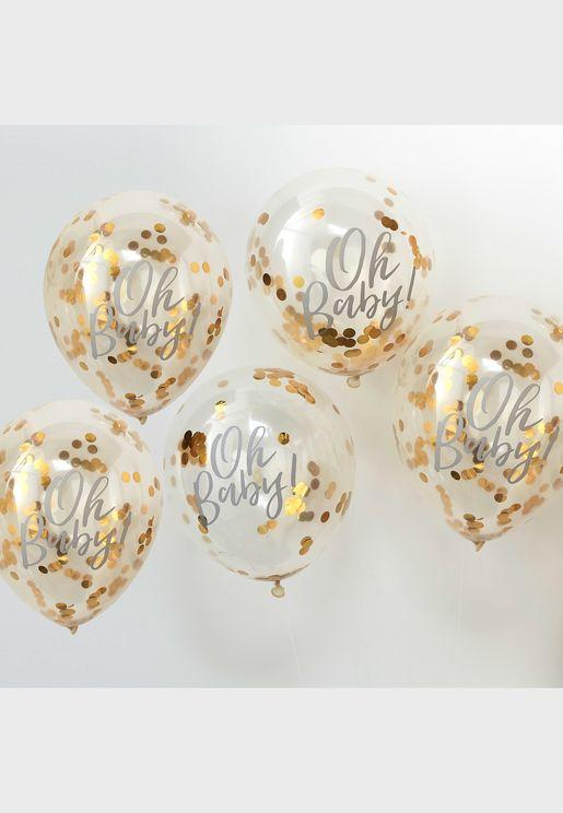 "12"" Oh Baby! Confetti Balloon"