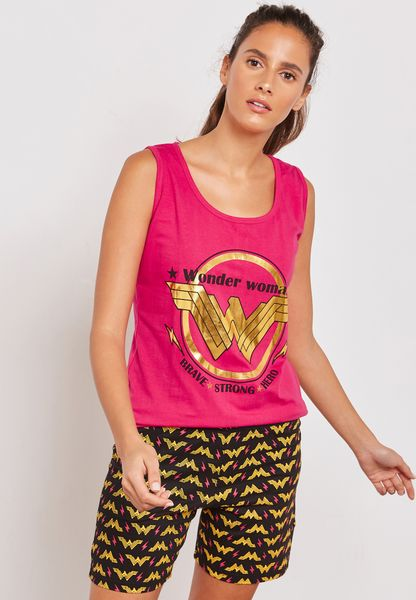 Wonder Woman Pyjama Shorts Set