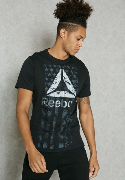Shop Reebok black Americana T-Shirt BK5292 for Men in Saudi - RE019AT13ISW