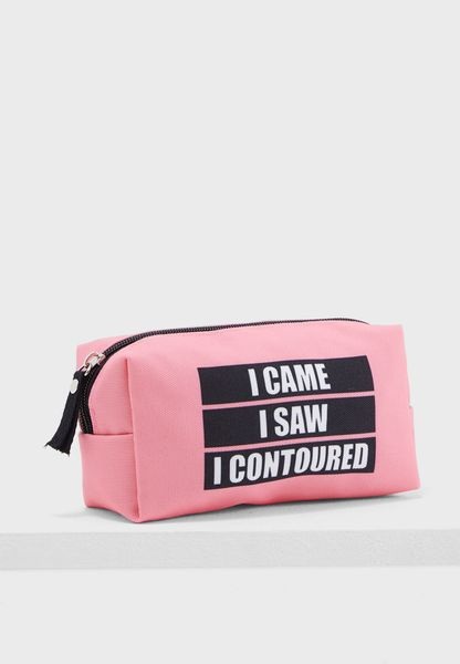 Cosmetic Bag - I Came, I Saw, I Contoured