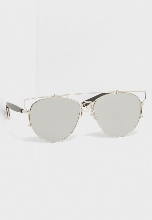 Mirrored Crossbar Sunglasses