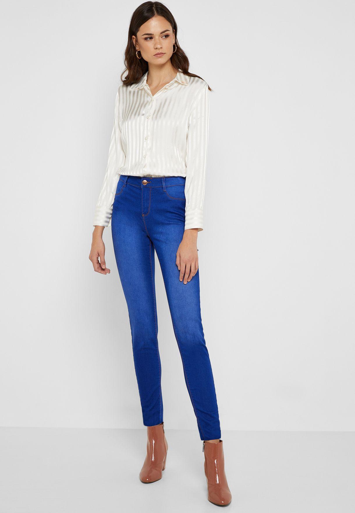 80be17d62 تسوق جينز سكيني كاجوال ماركة دوروثي بيركنز تول لون أزرق 9040121 في ...