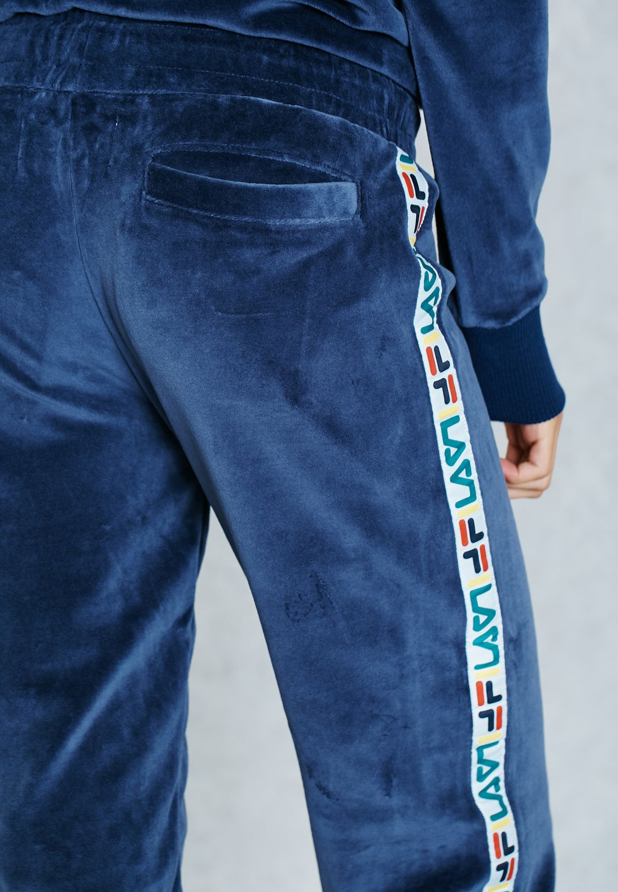 2b4175bd7658 Shop Fila blue Logo Trim Sweatpants FW16BKW014 for Women in Saudi ...
