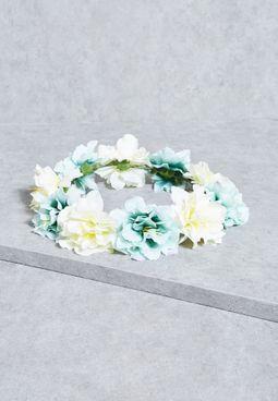 طوق رأس مزين بأزهار