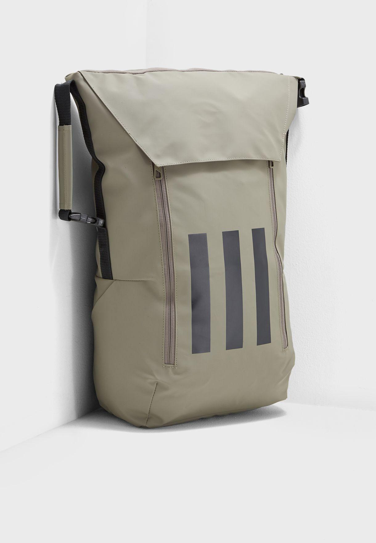 2ff1aef4a7 Shop adidas green Athletic 3 Stripe Backpack CG0485 for Men in UAE ...