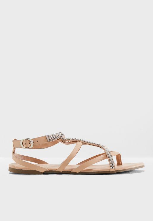 Chain Multi Strap Sandal