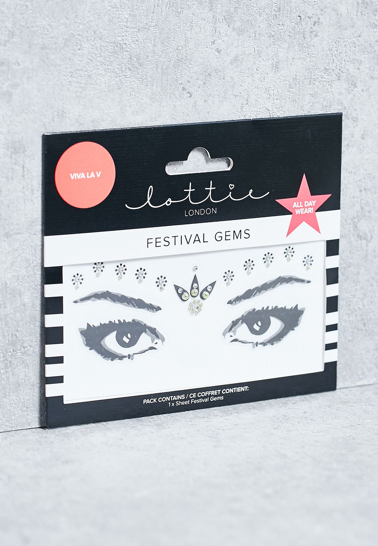 Shop Lottie Silver Festival Gem Viva La V 5060414314310 For Women Eyelash