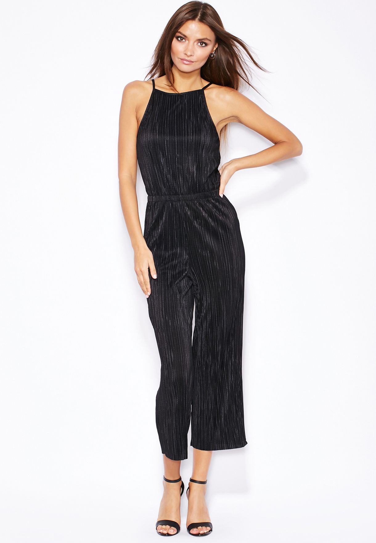 b8ee0be53cd8 Shop Topshop black Pleated High Neck Jumpsuit 16V59IBLK for Women in Kuwait  - TO856AT13LUW