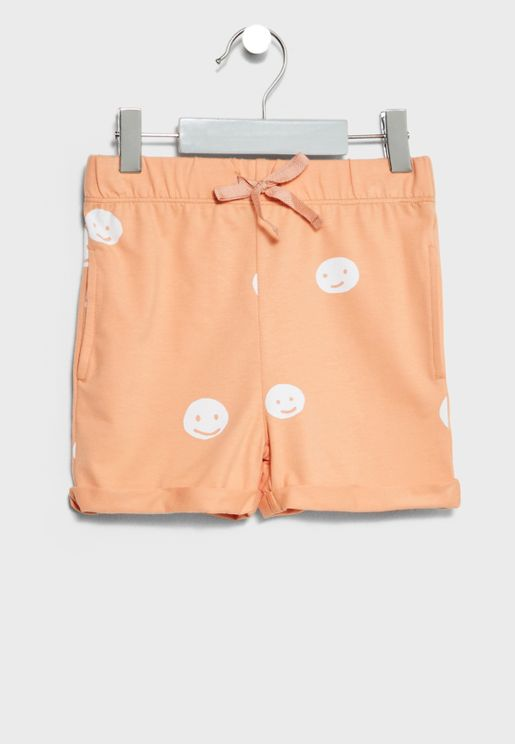 Little Smiley Print Shorts
