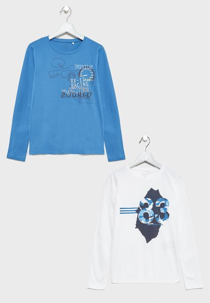 Little 2 Pack Graphic Tops