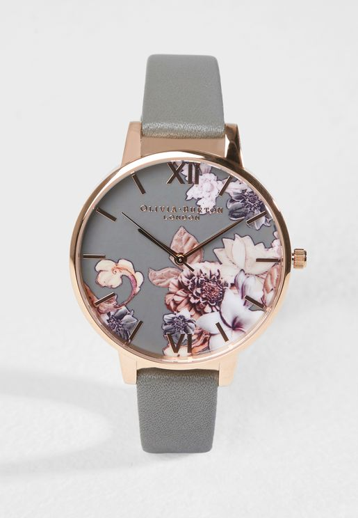 Marble Florals Analog Watch