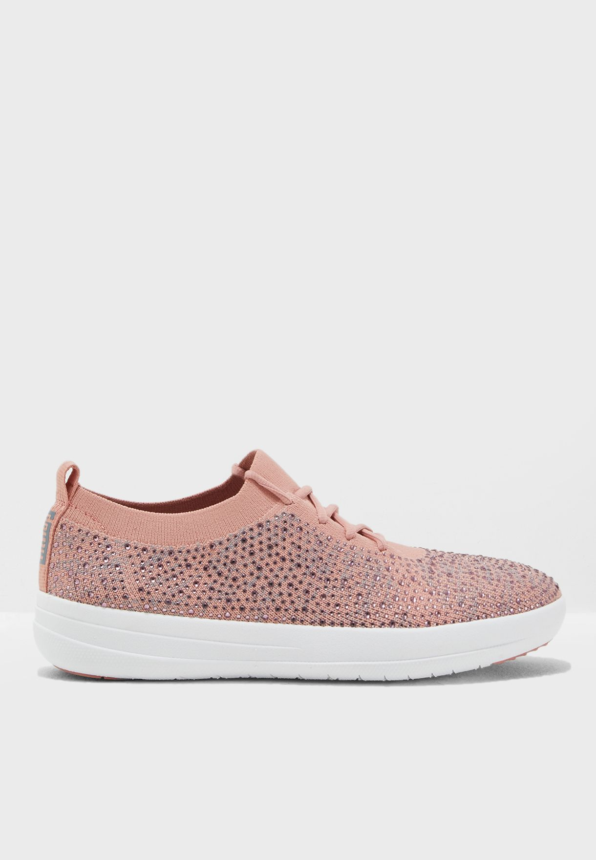 056a14b82fbf Shop Fitflop pink F-Sporty Uberknit Crystal Sneakers M25-602 for ...