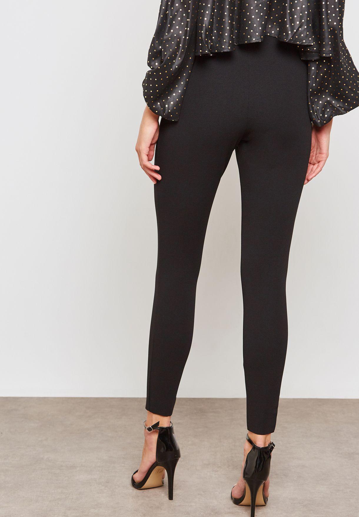 ee106bda7306b Shop Missguided black Skinny Fit Cigarette Pants WSR9334722 for ...