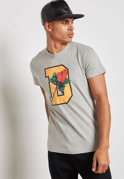 D Rose Printed T-Shirt
