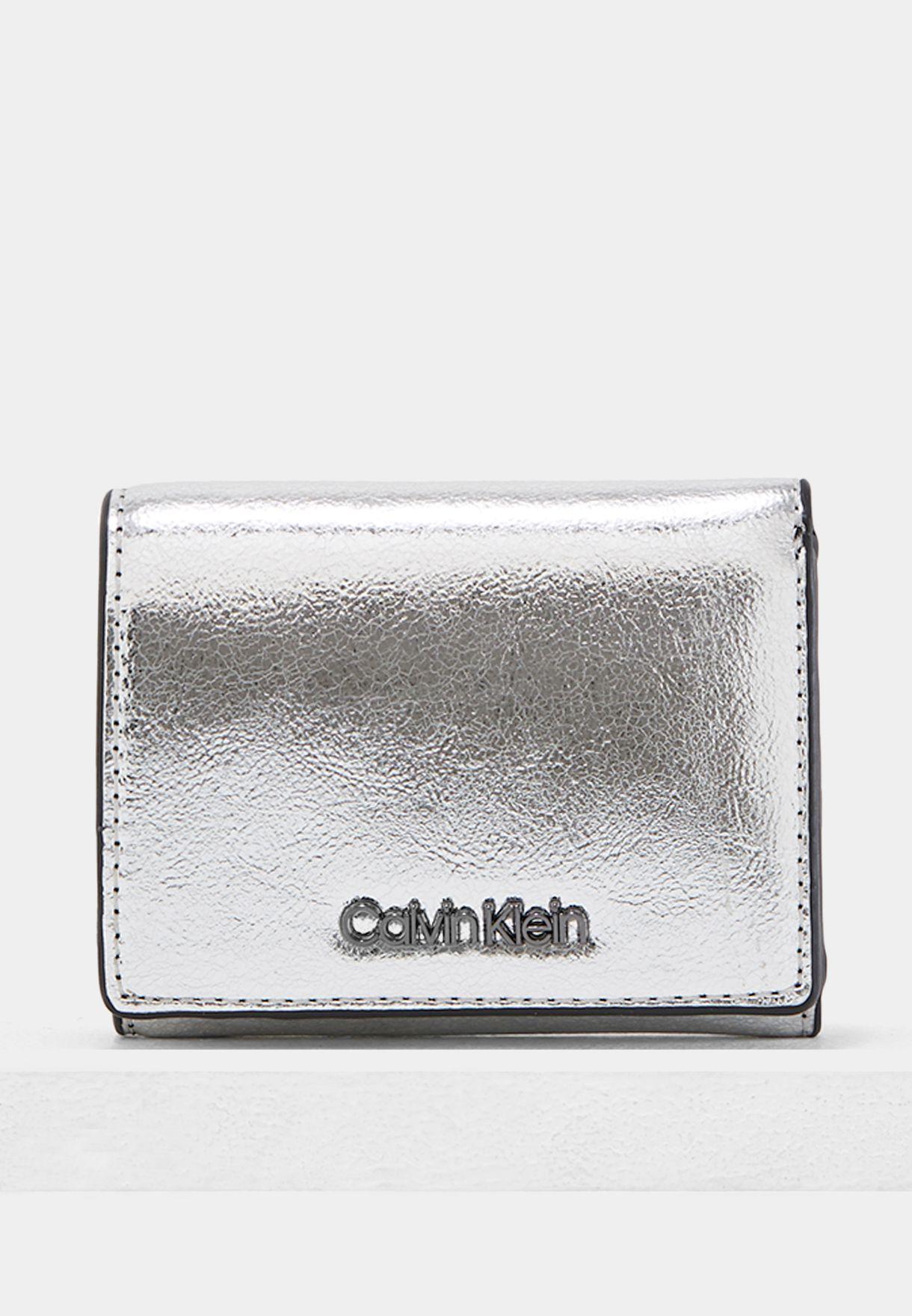 497e7a560c9 Shop Calvin Klein silver Small Candy Purse K60K604399904 for Women ...