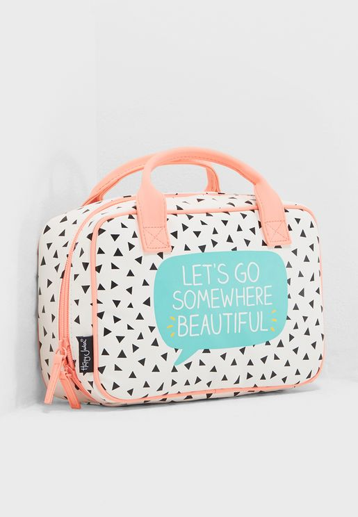 Lets Go Somewhere Beautiful Cosmetic Bag