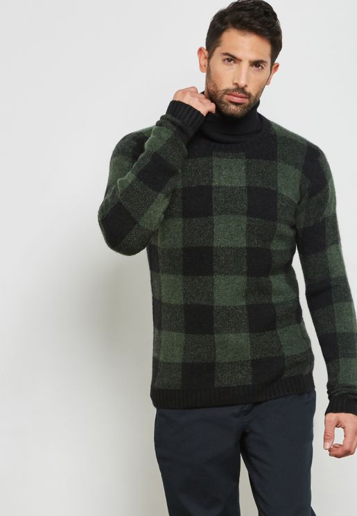 Thorkild Knitted Check Sweater