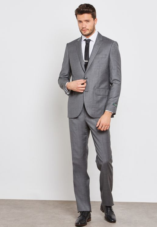 Classic False Plain Slim Fit Suit