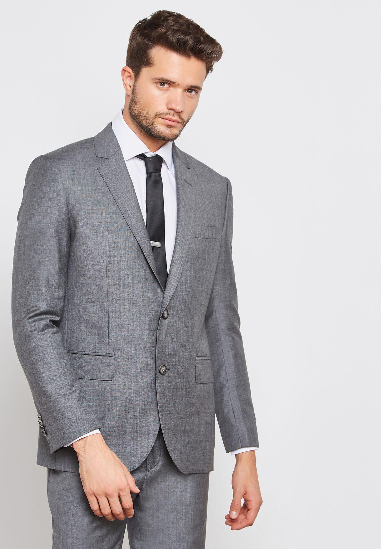 Classic False Plain Slim Fit Suit